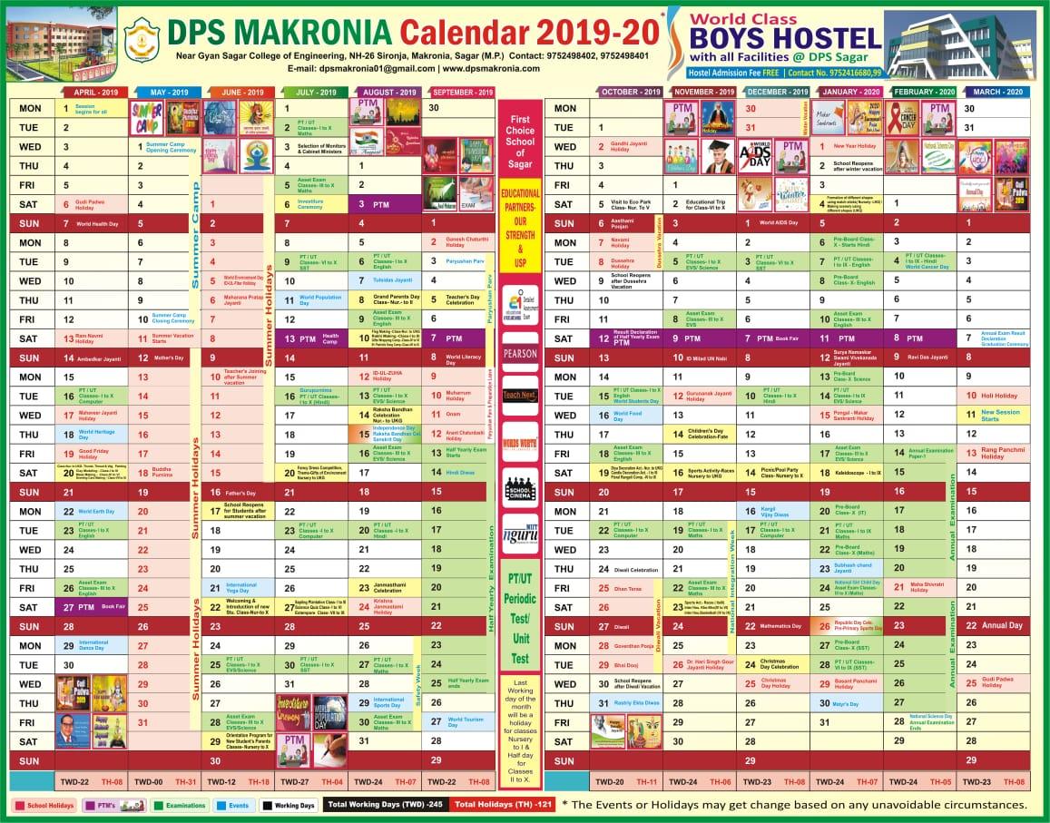Dps Calendar.School Calendar Dps
